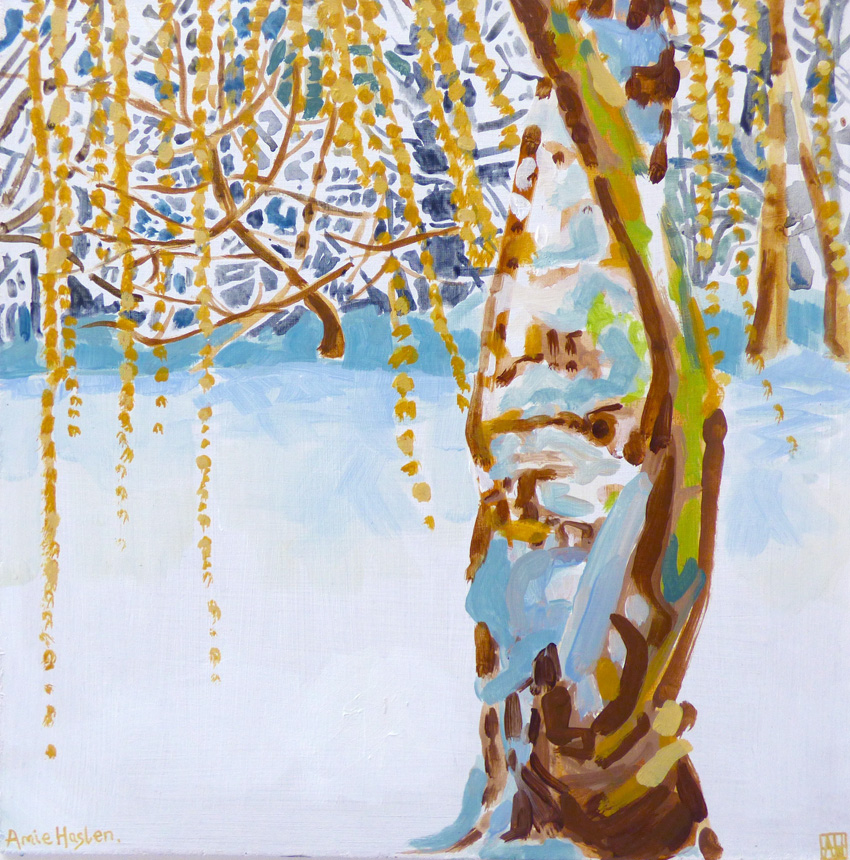 Weeping Willow in Snow