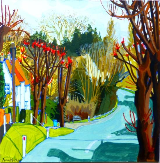 Towards Old Railway Lavenham